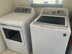 New washer and dryer installed March 2017